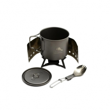 TOAKS Ultralight Titanium Cook System with solid Alcohol stove