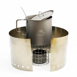 TOAKS Ultralight Titanium Alcohol Stove with 650ml Pot