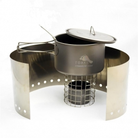TOAKS Ultralight Titanium Alcohol Stove with 700ml Pot