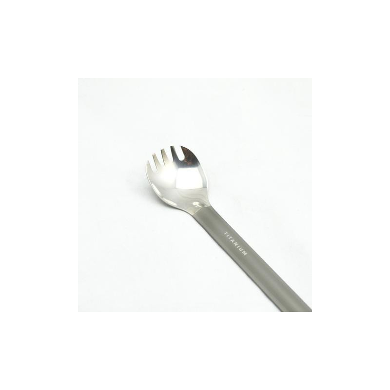 TOAKS Titanium Long Handle Spoon with Polished Bowl SLV-11