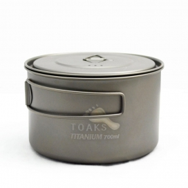 TOAKS LIGHT Titanium 700ml Pot with 115mm Diameter