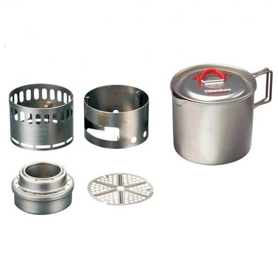 EVERNEW Ti Pot 500 with Ti Stove (ECA268)