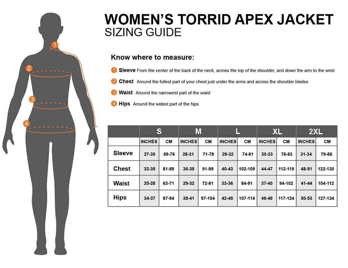 Torrid Apex Womens measurements