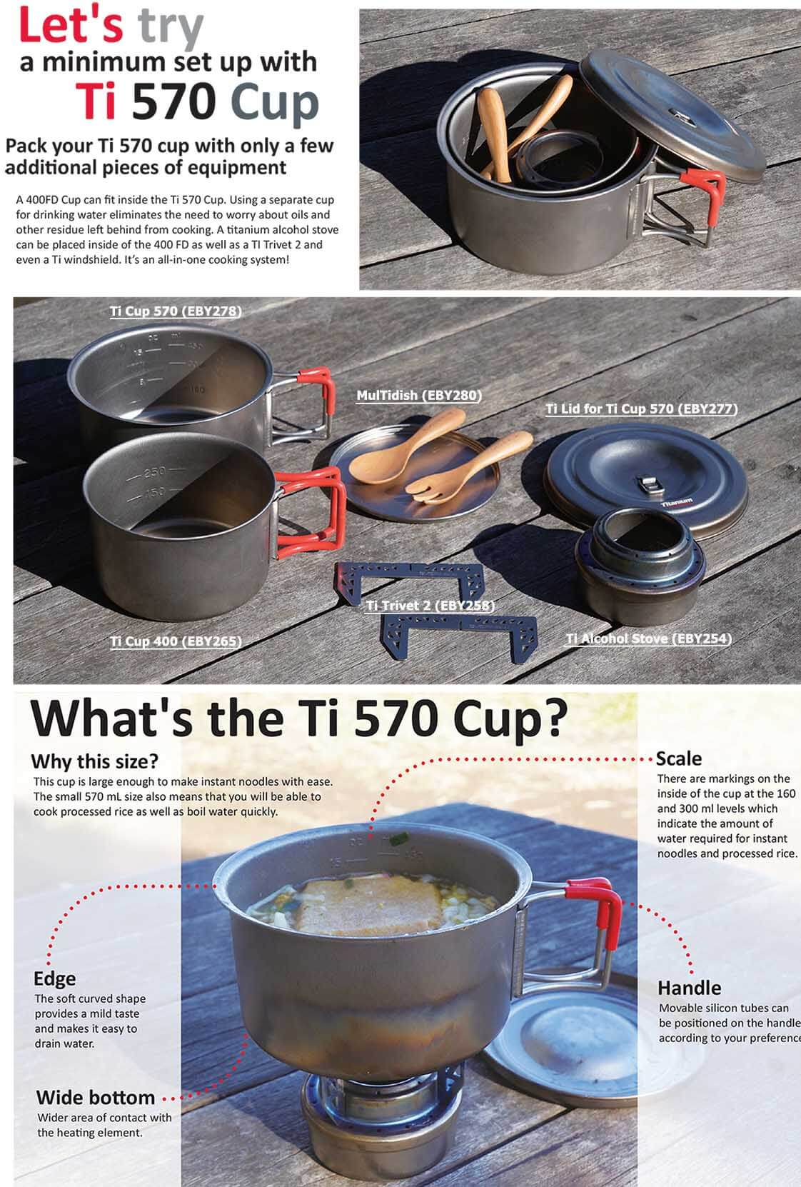 Evernew Ti Cup 570 FH