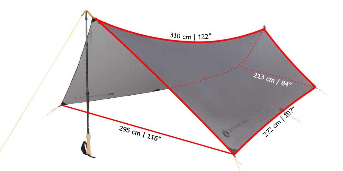 Gossamer Gear Twinn Tarp measurements
