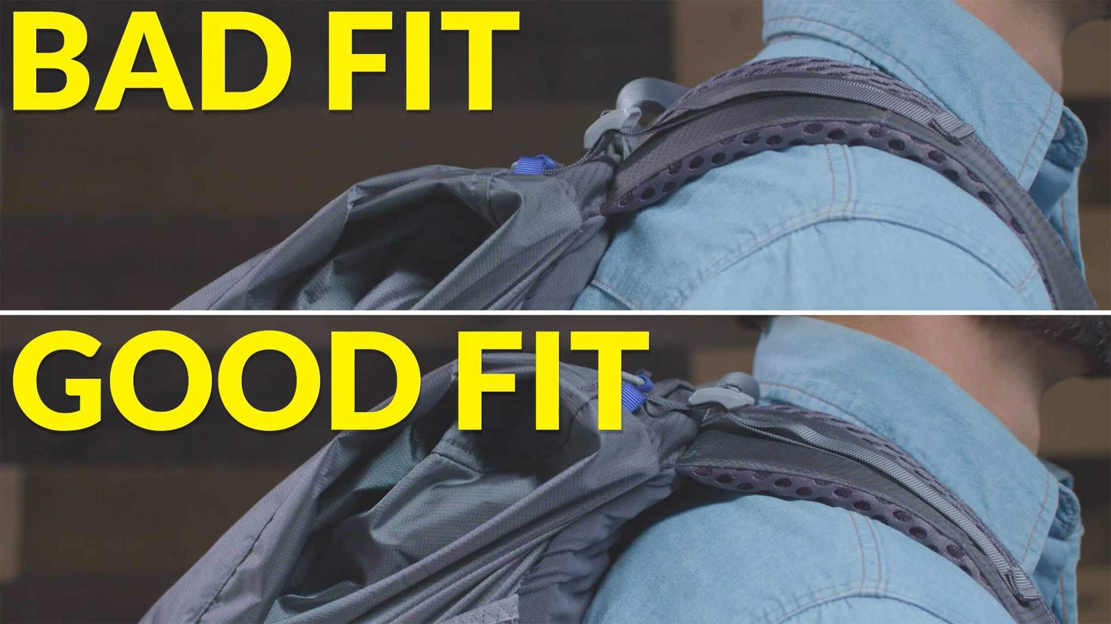How to fit backpack