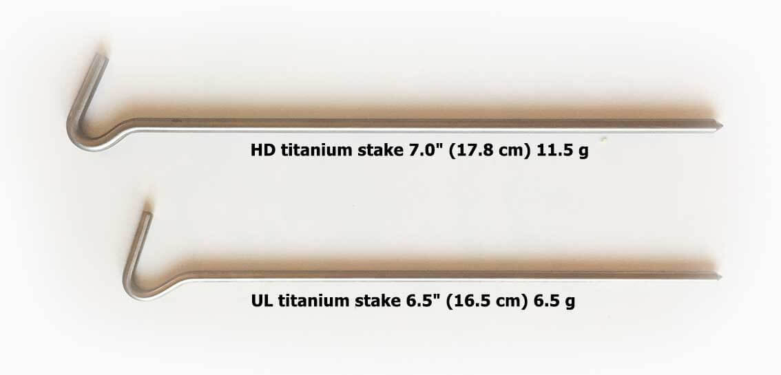 Lawson Titanium tent stakes