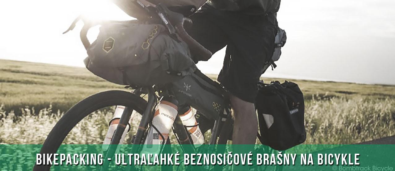Apidura - ultraľahké beznosičové brašny na bicykle