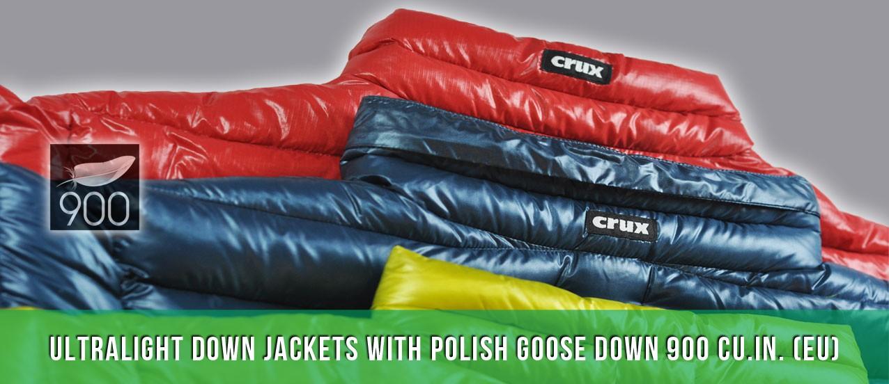 Crux down jackets